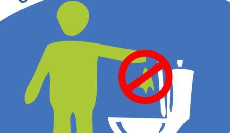 """Illustration """"Les lingettes ce n'est pas dans les toilettes"""""""
